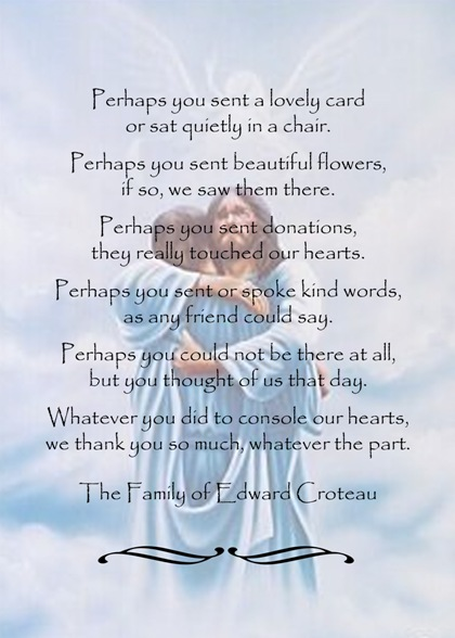 Sympathy Thank You Cards Wording